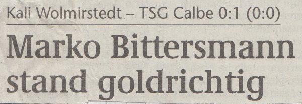 Volksstimme-Schlagzeile zum 4. Spieltag.