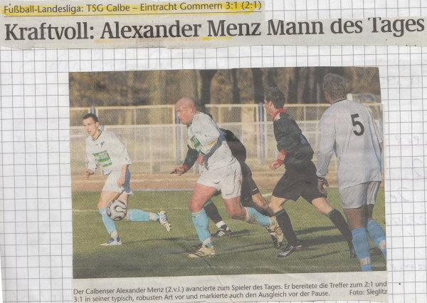 Volksstimme-Schlagzeile zum11. Spieltag.