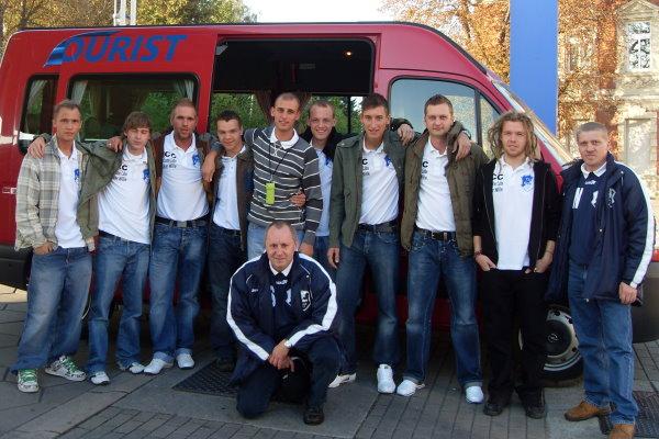 Auf geht es in das Magdeburger Stadion.