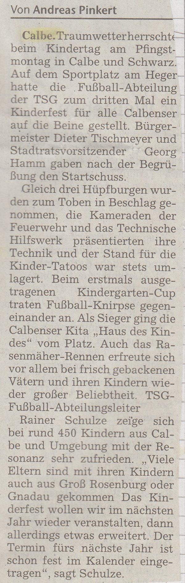 Artikel von Andreas Pinkert.