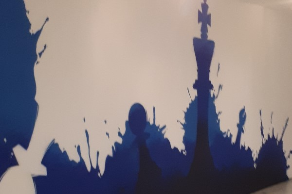 Schachfiguren kombiniert mit Symbolen vom Fußball, ein tolles Gesamtkuinstwerk. | Foto: Verein