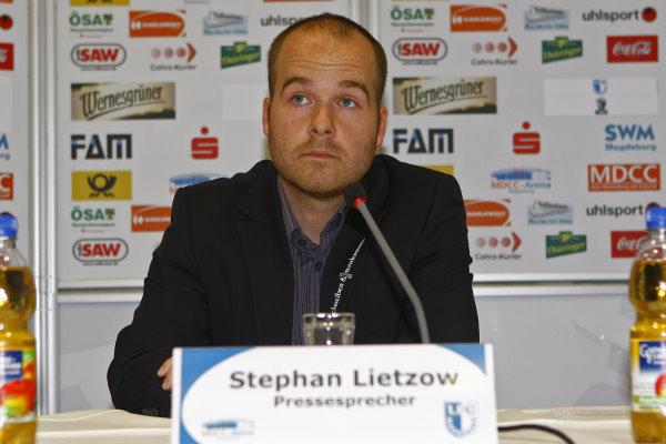 Zwischenzeitlich, hier 2011, war Stephan Lietzow auch Pressesprecher des FCM.