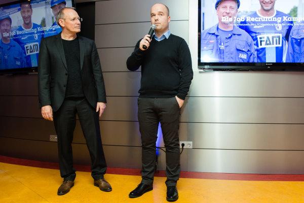 Stephan Lietzow, hier bei einem Sponsorenabend des FCM.