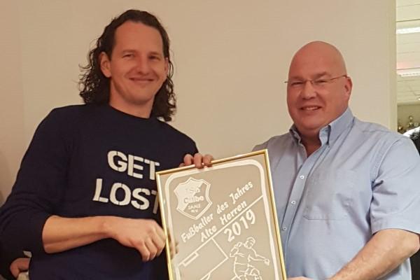 Jan Arnoldi wurde zum besten Spieler der Alten Herren im Jahr 2019 auserkoren. | Foto: Verein