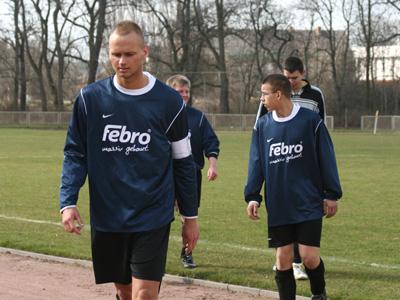 Kapitän Ch. Knabe führte die Mannschaft zum Sieg