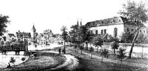 Stadt Calbe - Schloss 1840